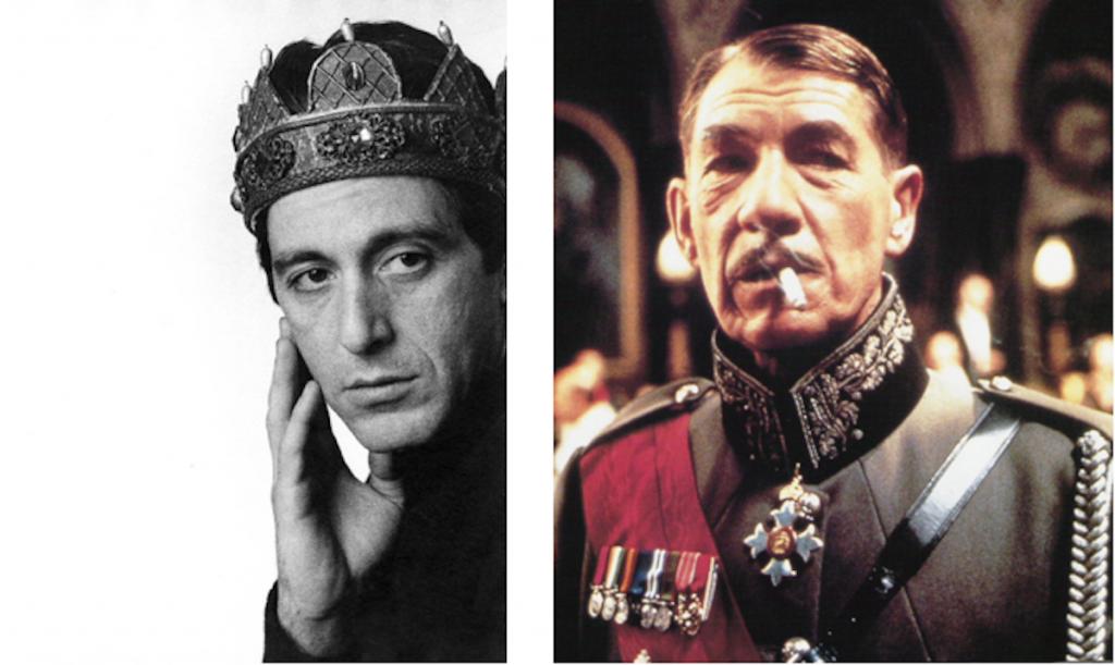 Al Pacino Richard III, 1996. Ian McKellen Richard III, 1995