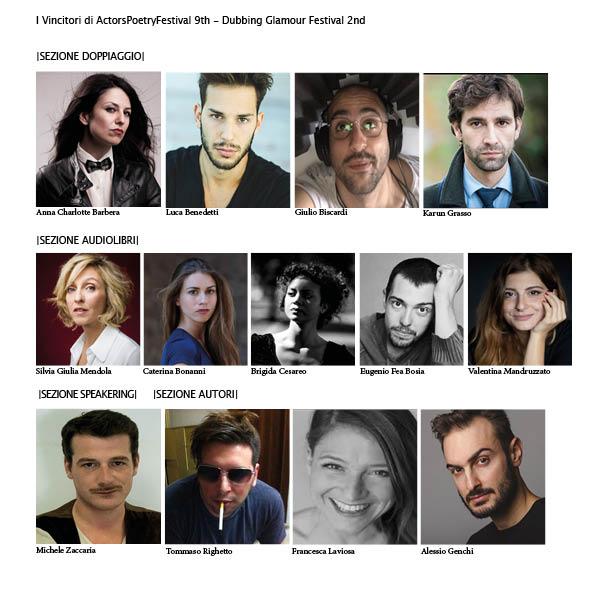 I Vincitori di ActorsPoetryFestival 9th - Dubbing Glamour Festival 2nd