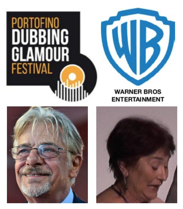Warner Bros al Portofino Dubbing Glamour Festival: Giancarlo Giannini e Annalaura Carano